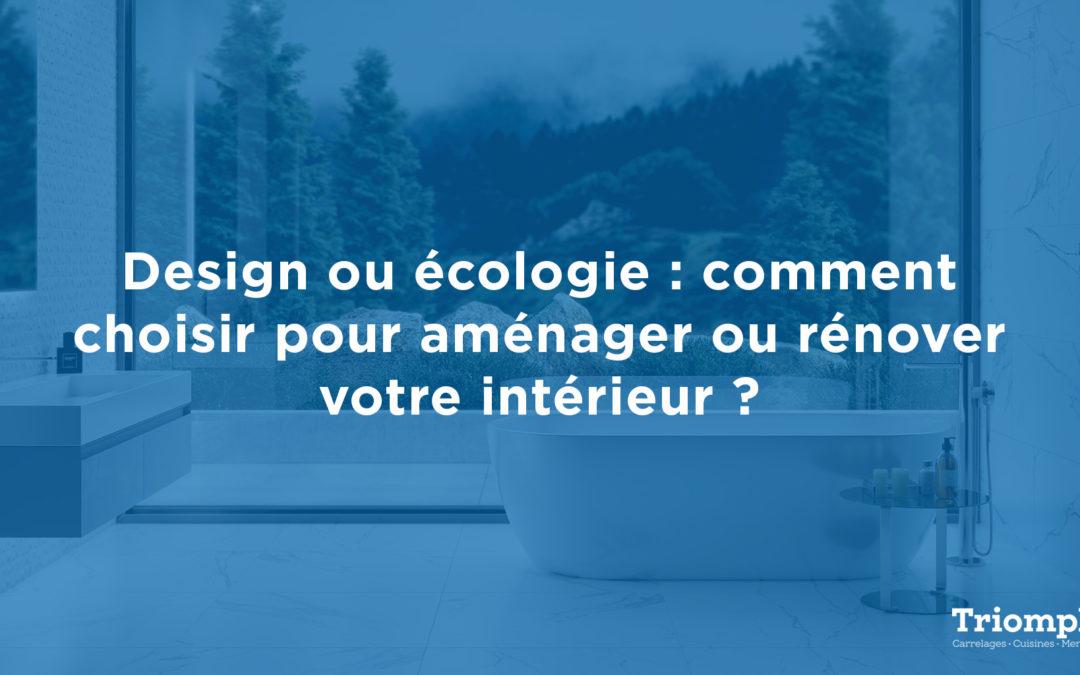 Design ou écologie ?