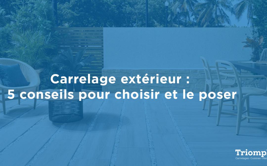 Carrelage extérieur : sol, terrasse, cour, balcon, conseils